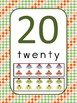 Sock Monkey Number Posters (0 to 20) with Ten Frames