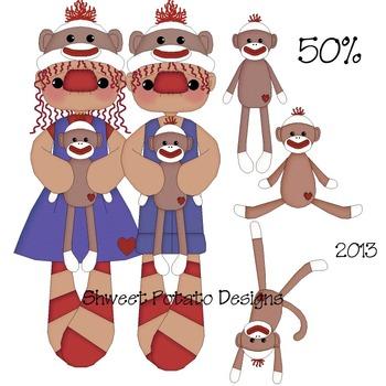 Sock Monkey Raggedies