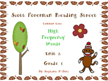 Sock Monkey Reading Street High Frequency Words Unit 2 Gr. 1
