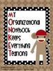 Sock Monkey Student Binder Covers