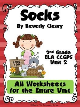 Socks 2nd Grade ELA CCGPS Unit 2 - WORKSHEETS