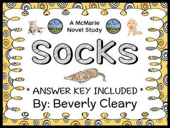 Socks (Beverly Cleary) Novel Study / Reading Comprehension