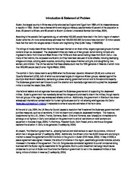 Socratic Discussion-Sudan Crisis