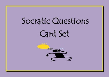 Common Core Socratic Questioning Cards for Critical Thinking