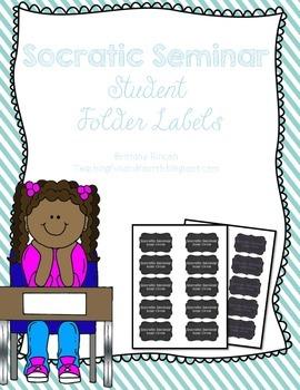 Socratic Seminar {Freebie} Folder Labels