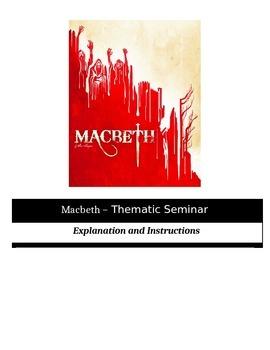 Socratic Seminar - Macbeth - Common Core Aligned