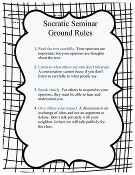 Socratic seminar starter set