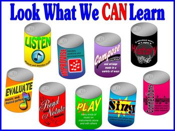 Soda Can Standards Music Bulletin Board Kit
