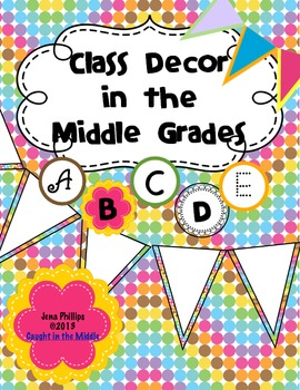 Soda Pop Bunting and Letters