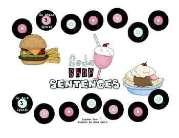 Soda Shop Sight Word Sentences Game
