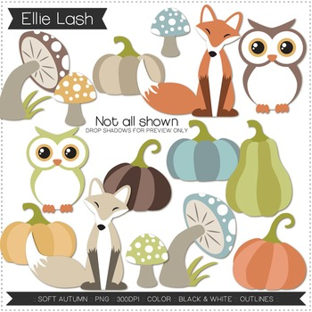 Soft Autumn Digital Clipart