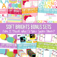 Digital Papers Frames and More: Soft Brights Ultimate Bundle Set