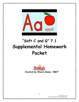 Soft C and G Supplemental Homework Packet 7.1