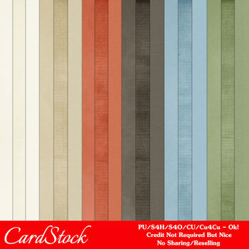 Soft Morning A4 size Card Stock Digital Papers