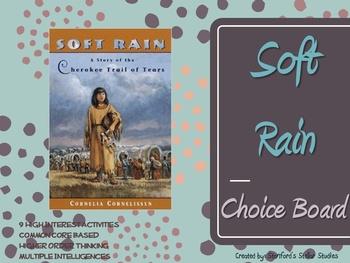 Soft Rain by Cornelissen Choice Board Tic Tac Toe Novel Ac