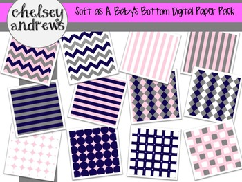 Soft as a Baby's Bottom Digital Paper Pack {Personal and C