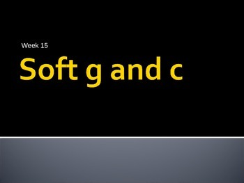 Soft c and g