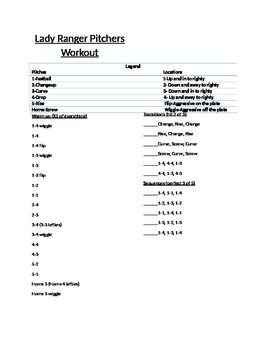 Coaching: Softball/Baseball- Pitchers Bullpen Session Workout