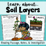 Soil Layers Bundle {Reading Passages, Anchor Chart, Notes,