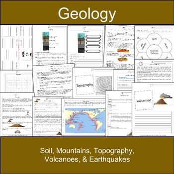 Soil, Mountains, Topography, Volcanoes & Earthquakes: Eart