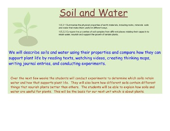 Soils, water retention, & supporting plant life - NC CCS