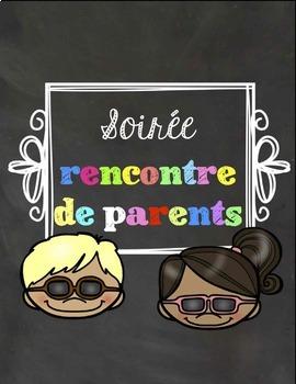 Soirée rencontre de parents - Meet the teacher FRENCH - VE