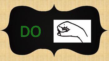 Sol fege Hand Signs- Chalkboard Design