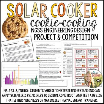 Solar Cooker Cookie-Cooking Engineering NGSS Project for E