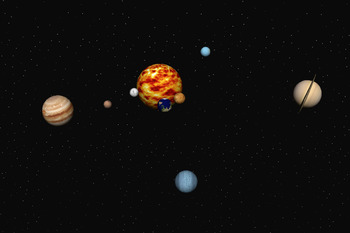 Solar System 16 Second Video in .MP4 format