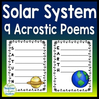 Solar System Writing Activity & Solar System Word Search
