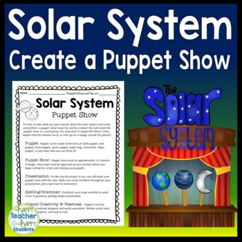 Solar System Project: Create a Puppet Show Activity