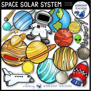 Solar System Clip Art - Whimsy Workshop Teaching