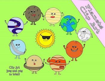 Solar System Colored Clip Art