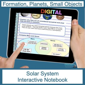 Solar System Digital Interactive Notebook (Flip Book)