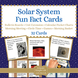 Solar System Unit Activity - Fun Fact Cards for Games, Bul