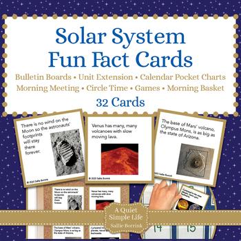 Solar System Fun Fact Cards for Games, Bulletin Board, Uni