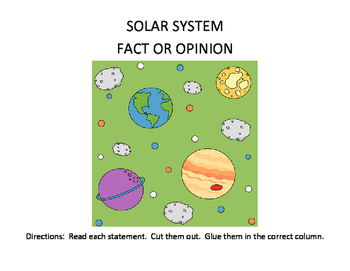 Solar System Fact or Opinion
