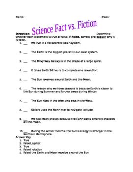 Solar System Fact vs. Fiction