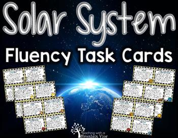 Solar System Fluency Task Cards