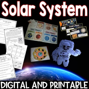 Solar System Pack Interactive Notebook, Printables, Editab
