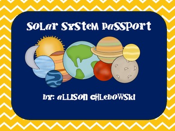 Solar System Passport Booklets