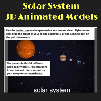 Solar System Planets - 3D Graphics for Whiteboards and Sma