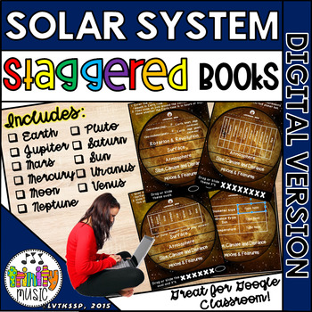 Solar System (Planets) for Science Staggered Booklets (DIG