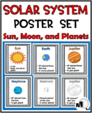 Solar System Science Word Wall Posters  - Sun, Moon, and Planets