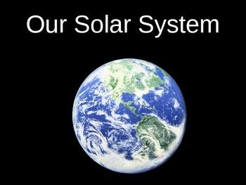 Solar System Power Point 32 slides Third/Fourth Grade