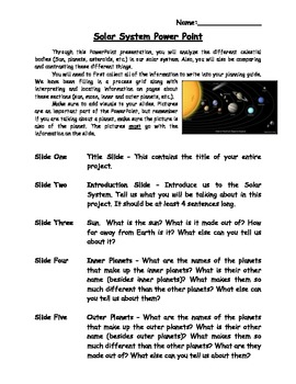 Solar System PowerPoint Project