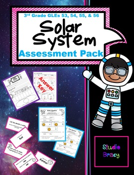Solar System Unit Assessment BUNDLE