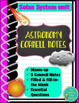 Astronomy Bundle- Solar System Unit (5 Cornell Notes)