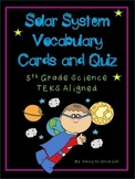 Solar System Vocabulary Cards & Quiz