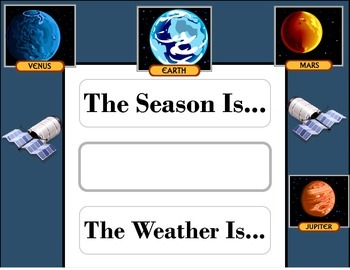 Solar System Weather Chart! Space Weather! Solar System Th